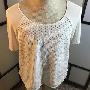 Calvin Klein 0X White Stretch Shirt Short Sleeve